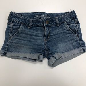 American Eagle Cuffed Flap Pockets Jean Shorts